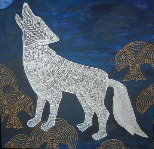 Annemarie HOFFMANN - Painting - BaumWolf    (Cat N° 6403)