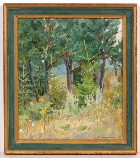 """Vladimir M. SINITSKI - Painting -  """"Forest Study"""", Oil Painting"""