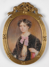 "Emanuel Thomas PETER - Miniatur - ""Portrait of a Lady"", important large miniature on ivory"
