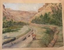 Michel KURCHÉ - Peinture - Barada River Al-Hameh