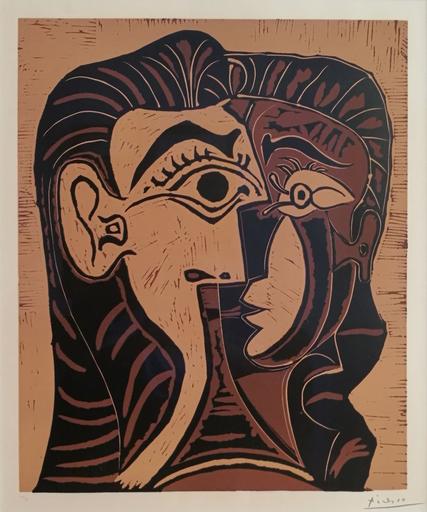 巴勃罗•毕加索 - 版画 - Portrait de Jacqueline de Face 1