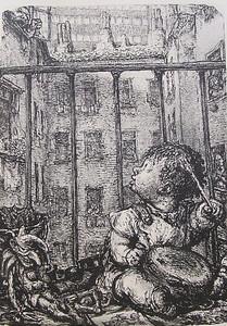 Andreas Paul WEBER - 版画 - Verdammter Lausebengel