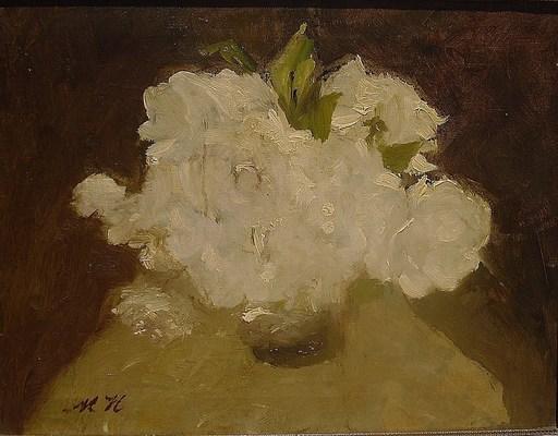 Marie HEINEKEN - Painting - pionies