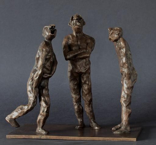 Christian LIGNAIS - Skulptur Volumen - Rictus, risorius et ronchonnot