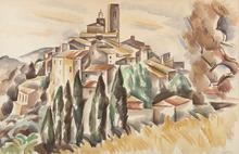André LHOTE - Drawing-Watercolor - Saint Paul de Vence