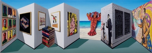 Patrick HUGHES - Grabado - Popsee