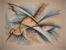 Roger LERSY - Grabado - L'oiseau,1985.