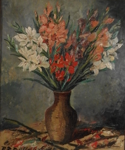 Rudolf Raimund BALLABENE - Pintura - Stilleben - Gladiolen