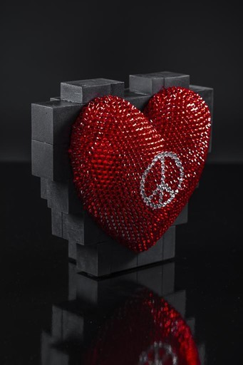 Bertrand GREGOIRE - Skulptur Volumen - Peace heart
