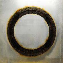 Bernard AUBERTIN - Peinture - Dessin de feu circulaire