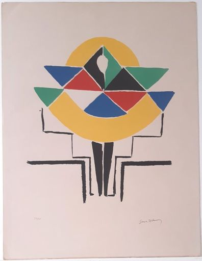 Sonia DELAUNAY-TERK - Print-Multiple - Figure colorée, costume