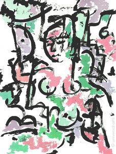 Jacqueline DITT - Estampe-Multiple - Nackt im Park (Naked i.t.Park - nude Akt) 1/1 Originalgrafik