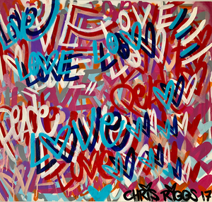 Chris RIGGS - Painting - Love and Peace