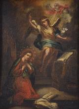 Juan de Nisa VALDÉS LEAL - Painting - Untitled (Angel Gabriel Visits Mary)
