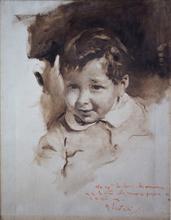 Romualdo LOCATELLI - Peinture - ritratto di bimbo