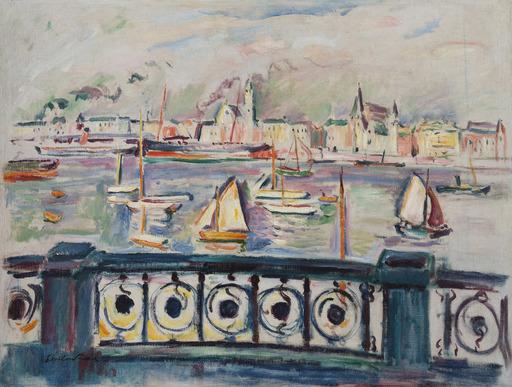 Emile Othon FRIESZ - Pittura - Le port d'Anvers