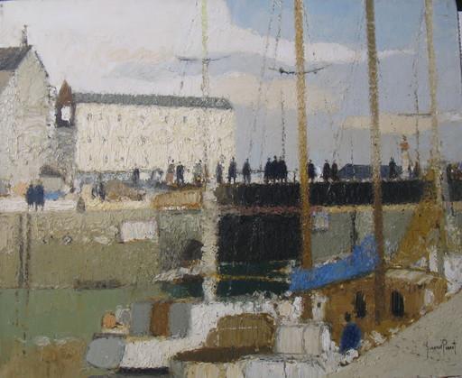 Gérard PASSET - Painting - Shipyard