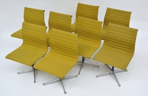 Charles EAMES, Set of Aluminium Group chairs
