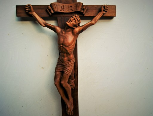 Emil THOMANN - Skulptur Volumen - Crucifix, Christ en croix