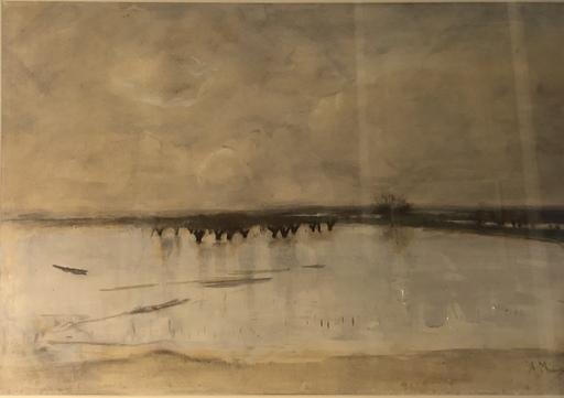 Anton MAUVE - Dessin-Aquarelle - Holländische Landschaft