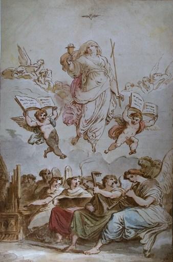 Felice GIANI - Drawing-Watercolor - Le Triomphe de la Foi