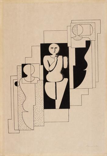 Willi BAUMEISTER - Print-Multiple - Treppen-Komposition