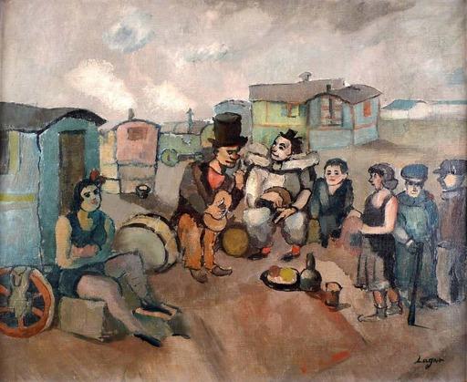 Celso LAGAR - Pintura - Les Saltimbanques