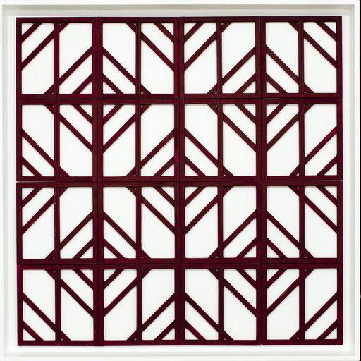 Manfredo MASSIRONI - Scultura Volume - Lineare /Zeta 16 ante a quadrati multipli