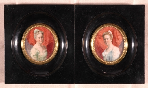 Franz Xaver SIMM - Miniature - Two Portrait Miniatures, 1905
