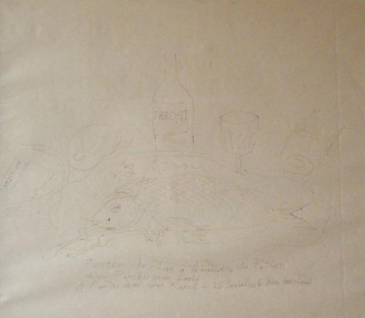 Raoul DUFY - Drawing-Watercolor - Peche de Lac