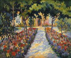 Robert Antoine PINCHON - Peinture - Chaumière près de Rouen