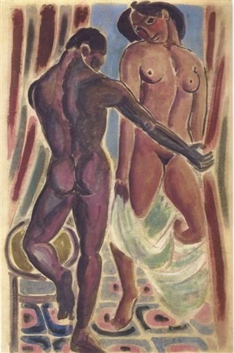 Wifredo LAM - Drawing-Watercolor - Untitled - Price on request