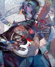 Rafael UBEDA PIÑEIRO - Painting - bandurrista