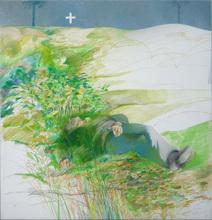 Carlos ALONSO - Disegno Acquarello - Fine della primavera