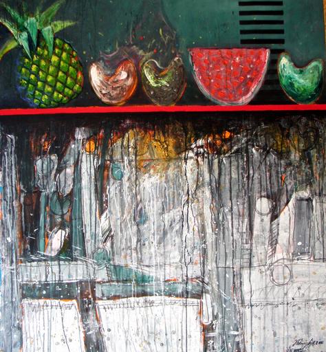 Vladimir CORA - Pintura - Bodegon with fruit