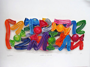 David GERSTEIN - Dibujo Acuarela - Sweets And Strokes