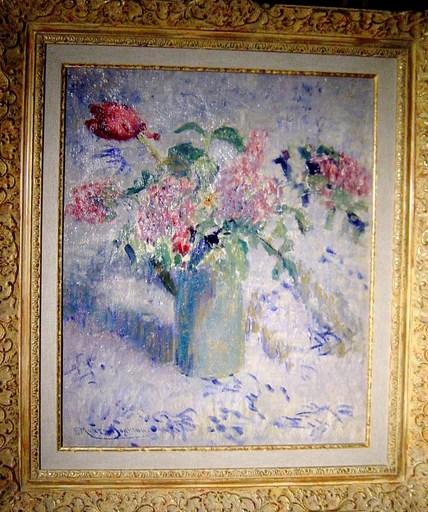 Francis Morton JOHNSON - Gemälde - Tulipes et lilas