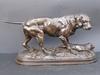 Édouard Paul DELABRIERRE - Escultura - Labrador en arret sur un lièvre