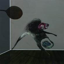 Jim DELARGE - Peinture - Frizzbee Herr Maddsnack