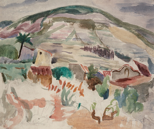 Willy EISENSCHITZ - Drawing-Watercolor - Auf Ibiza
