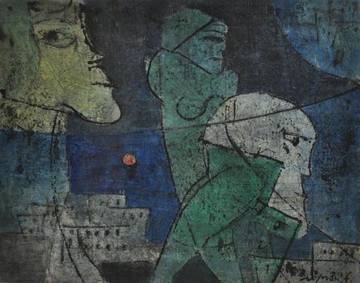 Franco ROGNONI - Painting - Città