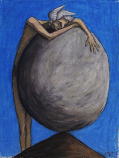 Scott VALENZUELA - Dibujo Acuarela - Victory of Sisyphus
