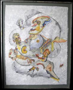 Charles Keeling LASSITER - Dibujo Acuarela - Valse exentrique