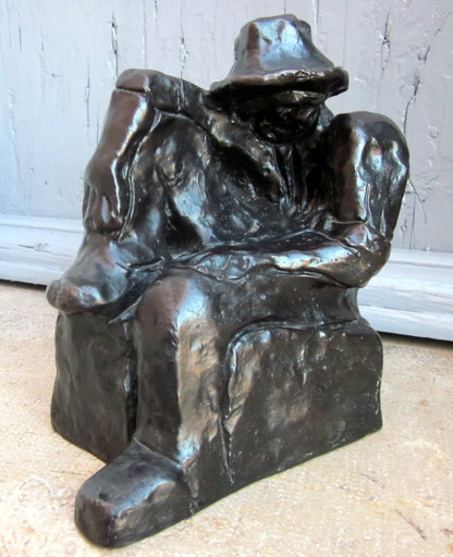 Auguste CHABAUD - Sculpture-Volume - Paysan assis