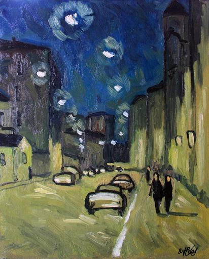 Valeriy NESTEROV - Pittura - Lubyanskiy lane. Moscow