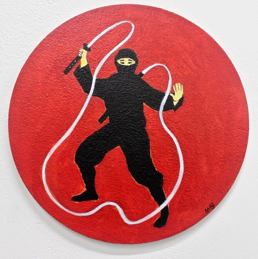 Damir MURATOV - Painting -  Ninja. Hocus-pocus
