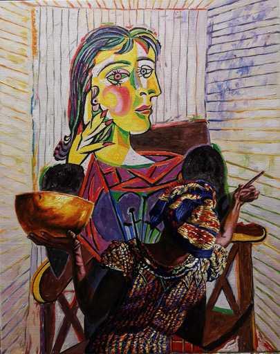 Ali HASSOUN - Painting - Omaggio a Picasso