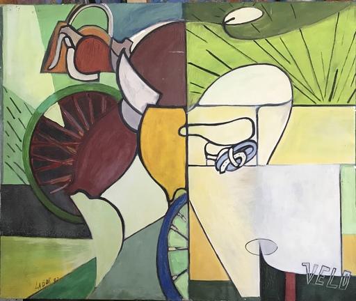 Robert LABOR - Peinture - Le Vélo