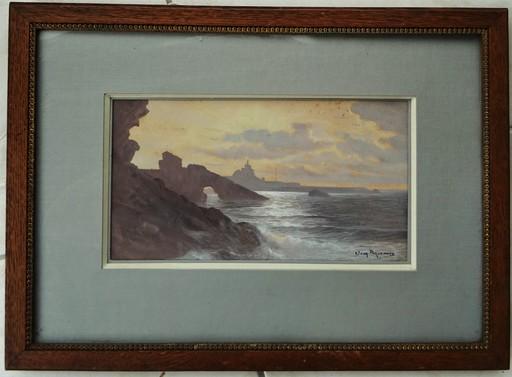 Jean-Louis PAGUENAUD - Disegno Acquarello - biarritz circa 1905/1910