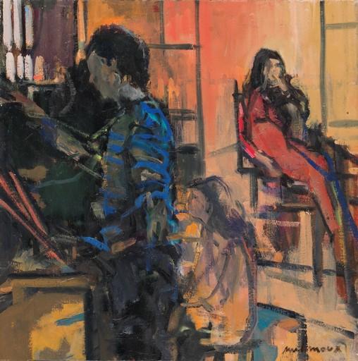 Carole MELMOUX - Painting - Scène d'Atelier 1